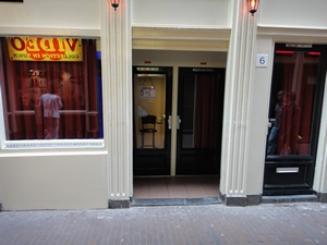 Amsterdam red light district (De Wallen / Walletjes / De Rosse Buurt). Stoofsteeg 6