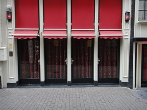 Sint Annendwarsstraat 1-1 to 1-4 in Amsterdam's red light district (De Wallen / Walletjes / De Rosse Buurt)