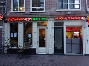 High time Coffee shop in Amsterdam's red light district (De Wallen / Walletjes / De Rosse Buurt)