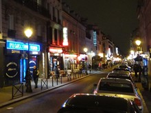Rue de la Gaite red light district (Quartier rouge) in Paris France