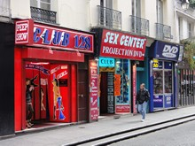 Rue Saint-Denis red light district (Quartier rouge) in Paris France