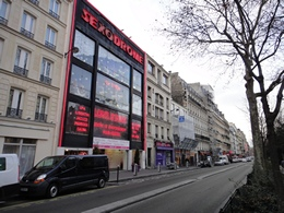 Boulevard de Clichy red light district (Quartier Rouge) in Paris France