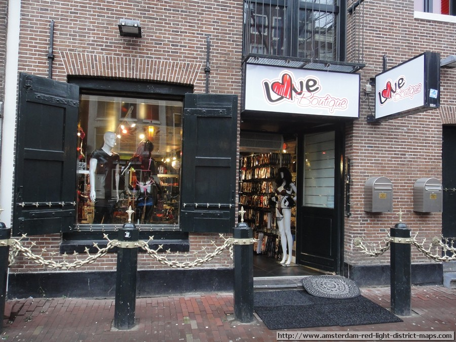 Love Boutique, Amsterdam red light district (De Wallen / Walletjes / De Rosse Buurt)