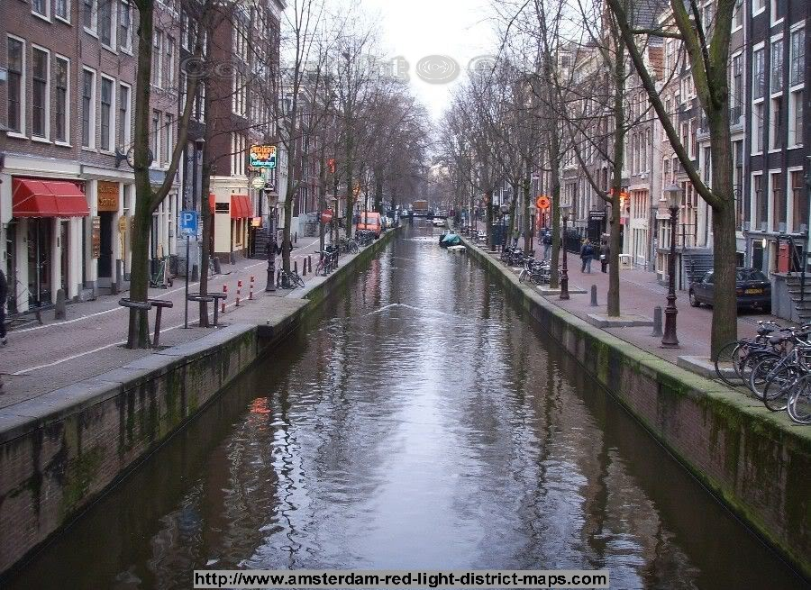 Oudezijds Achterburgwal in Amsterdam's Red Light District)