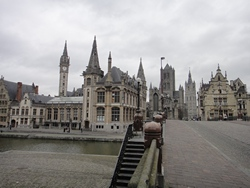 The picturesque centre of Ghent